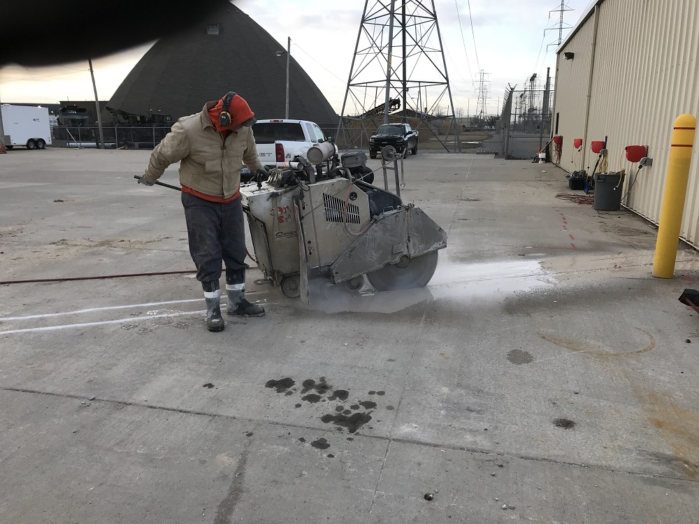 High Performance Diesel Slab Sawing